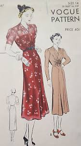 1940s Dress Patterns Awesome VINTAGE 48S VOGUE Dress Sewing Pattern 48's 48's Summer 48's