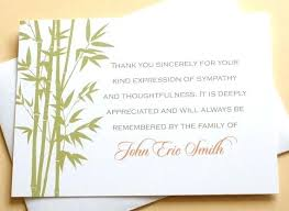 Thank You Note After Funeral To Coworkers Funeral Thank You Card Ideas Sample Note After To Coworkers