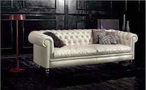 admirable mid century modern couch with smooth upholstery using bonded leather material for black living room