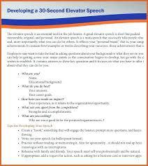 Elevator Speech Examples Speeches Sample Good Sop Best Writing