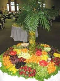 Wedding Fruit Displays  Photo Gallery  Pineapple Tree W Fruit Fresh Fruit Tree Display