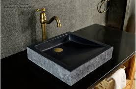 16 black bathroom sink granite stone basin borneo shadow