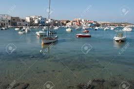 Europa Italië Sicilië Lampedusa Lampedusa Haven Royalty Vrije