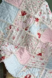 167 best Quilt Shabby Chic images on Pinterest | Baby blankets ... & Shabby Chic Baby Bedding | Crib Rag Quilt Baby Girl Crib Bedding Shabby Chic  Nursery Petal Adamdwight.com