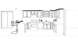simple kitchen drawing. Kitchen Cabinets Design Layout Simple Drawing Part