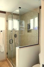 glass wall shower shower master suite shower for half wall shower glass the stylish half wall glass wall shower