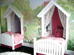 Twin Size Canopy Bed Girl Twin Canopy Bed Set Beds Twin Size Canopy ...