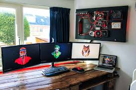 awesome wall mounted pc build