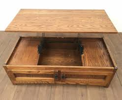 The open design and the wide bottom shelf provide lots of space to display your coffee table items. Lot Gs Sales Mission Style Lift Top Oak Coffee Table