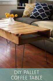 Chevron Pallet Coffee Table With Hairpin Legs  101 PalletsPallet Coffee Table With Hairpin Legs
