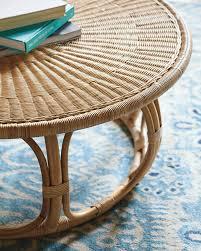 round wicker coffee table australia