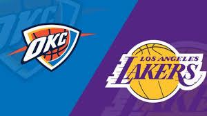Los Angeles Lakers vs Oklahoma City Thunder Live Stream - NBA Restart  Thunder vs Lakers LIVE - YouTube