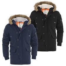 details about mens tokyo lee parka parker padded lined winter jacket faux fur hooded coat