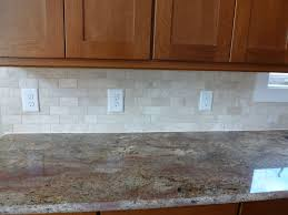 Red Kitchen Tile Backsplash Remarkable Subway Tiles In Kitchen With Natural Beige Tile