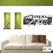 image is loading home cinema popcorn film quote wall art stickers  on home cinema wall art uk with home cinema popcorn film quote wall art stickers decals vinyl decor