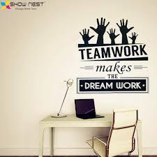 teamwork office wallpaper. Wonderful Office Office Wall Stickers Vinyl Decal Art  Mural Decor Sticker   Throughout Teamwork Wallpaper E