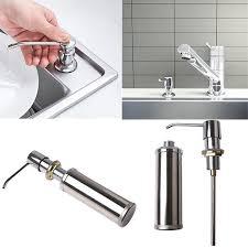 details about 300 350ml sink countertop soap dispenser bathroom kitchen tank stainless steel