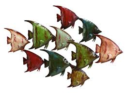 >amazon deco 79 63533 metal fish wall decor home kitchen