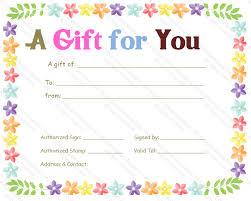 Celebration Gift Certificate Template