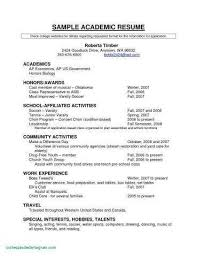 Resume For High School Student Inspirational High School Student
