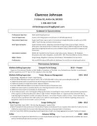 Wellsite Drilling Supervisor Clarence Johnson Resume