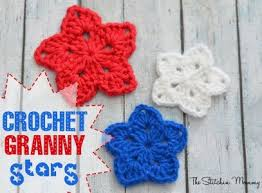 Crochet Star Pattern Free Beauteous 48crochet Granny Square Star Easy Granny Star Pinterest