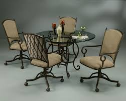 Dining Table With Atrium Caster Chairs