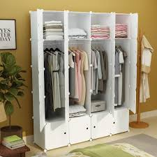 diy portable wardrobe clothes closet modular storage organizer space saving armoire deeper cubes white 8 cubes 4 hanging sections canada 2019 from
