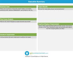 Executive Summary Goleansixsigma Com