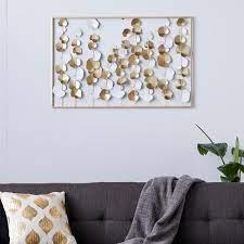 and gold rectangular wall decor