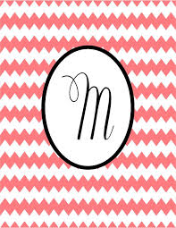 Two Magical Moms Chevron Monogram Binder Covers Great For Teachers