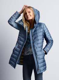 Schneiders Salzburg-Quilted down coat-sea blue & Quilted down coat Adamdwight.com