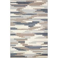 denim area rug 5 x 8 medium denim blue and taupe area rug co furniture