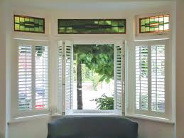 three sided bay window shutters