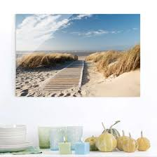 Glasbild Ostsee Strand Quer 23