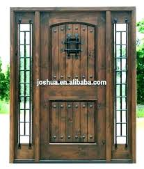wood front doors with glass and wrought iron wood and glass front door iron and glass