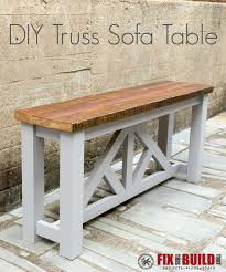 Diy sofa table Rustic Ana White Is Sharing Her Complete Plans For This Rustic Console That Would Look Pretty Awesome As Your New Sofa Table Be Sure To Drop By And Check Out The Cottage Market Diy Farmhouse Sofa Tables That Wont Break The Budget The Cottage