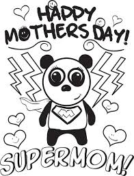Small Picture Free Printable Supermom Mothers Day Coloring Page for Kids