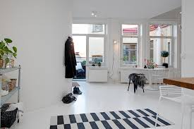 Small Single Room Apartment in Black and White  Gothenburg, Sweden