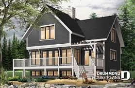 Mountain house plans & ski chalets from DrummondHousePlans.com