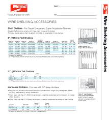 shelving accessories wire 10 04