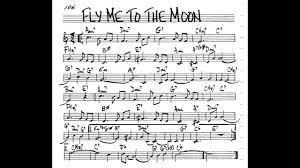 Fly Me To The Moon Play Along Backing Track 3 4 Score C Key Score Violin Guitar Piano