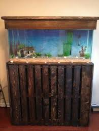 fish tank stand design ideas office aquarium. 55 gallon fish tank stand using two pallets stained and coated design ideas office aquarium