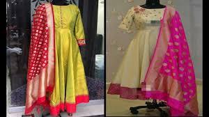 Manish Malhotra Designer Long Skirts Party Wear Long Kurtis Banarasi Silk Dupatta For Designer Dress Kurtis Designs 2018