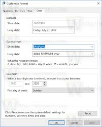 Windows date format string