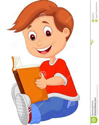 ic clipart boy reading a book pencil and in color