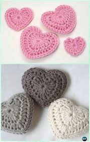 Free Patterns Crochet Beauteous Crochet 48D Love Heart Free Pattern Crochet Heart Free Patterns