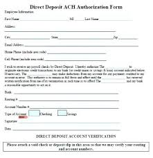 Direct Deposit Form Template 9 Free Documents Download Throughout ...