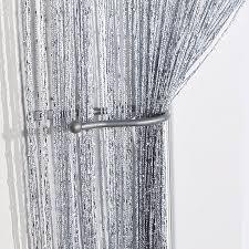 jazz glitter string curtain panel silver