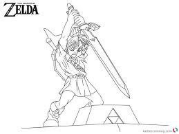 Zelda Coloring Pages Fresh The Legend Zelda Coloring Pages Free